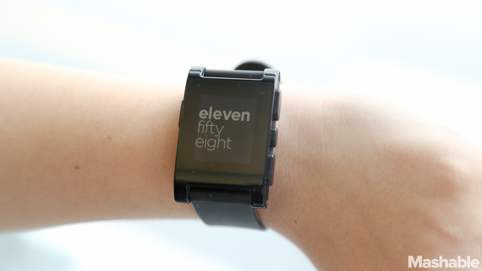 Pebble Smart Watch Image: http://mashable.com/2013/08/31/pebble-smart-watch-review/