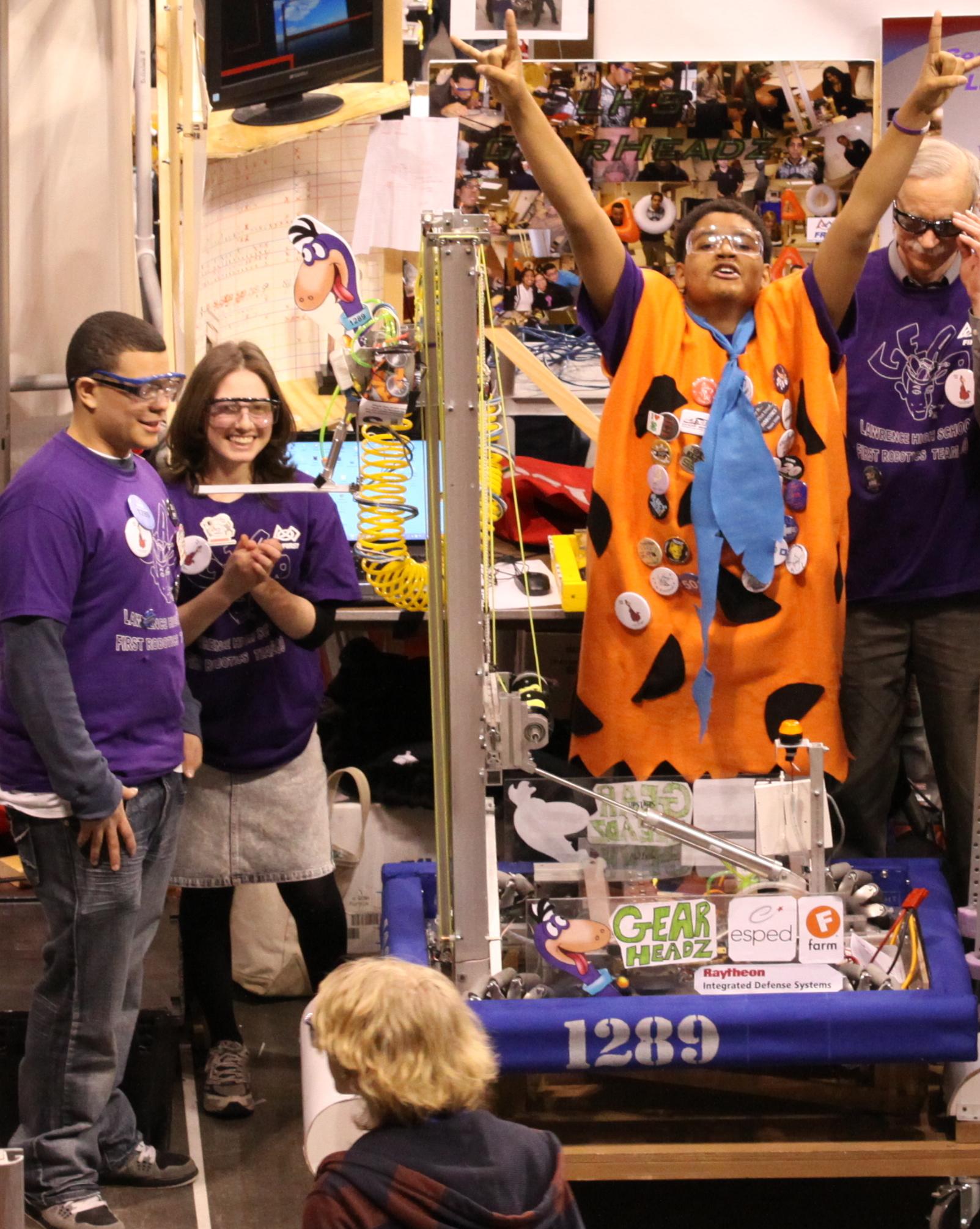 "Lawrence MA ""Gearheadz"" High School FIRST robotics team"