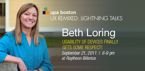 Beth Loring to Speak at UX Remixed: Lightning Talks at Raytheon in Billerica, MA
