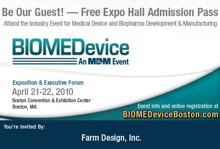 Visit Farm at BIOMEDevice April 21-22, 2010