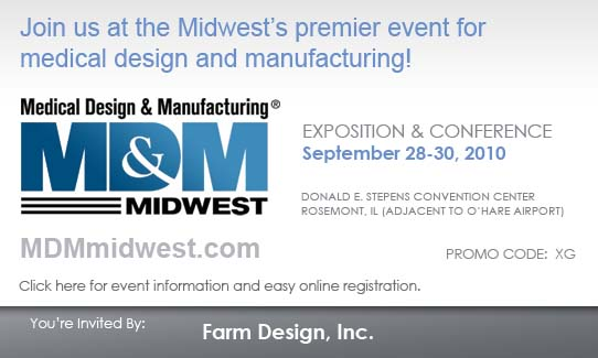 Visit Farm at MD&M-Midwest September 28-30, 2010