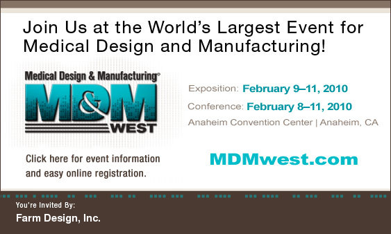 Visit Farm at MD&M-West February 9-11, 2010