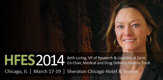 Beth Loring to Co-Chair Human Factors and Ergonomics Society Symposium March 17-19, 2014