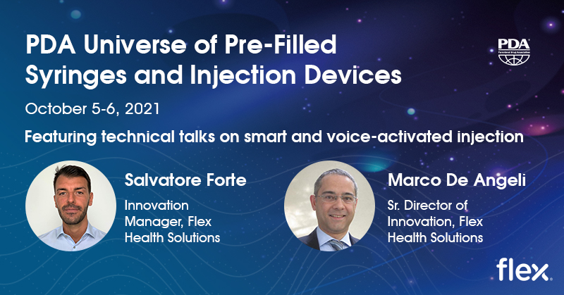 Attend Flex's Presentations at the PDA Universe of Pre-Filled Syringes and Injection Devices Conference