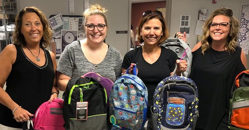 Farm Supports NSKS Backpacks for Back to School Program