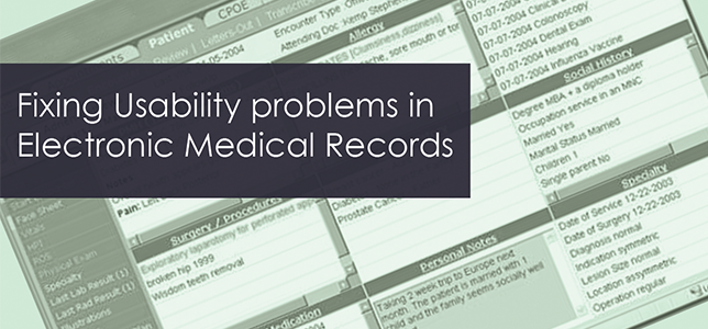 Usability Problems in Electronic Medical Records: Reports From the Field
