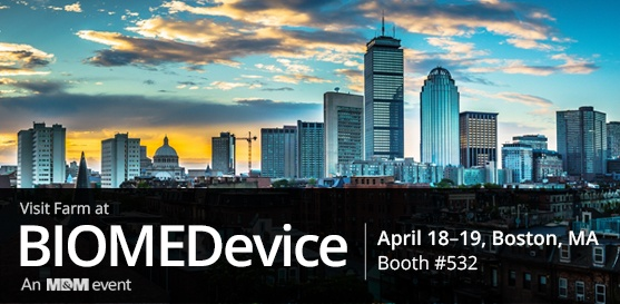 Connect with us at BIOMEDevice Boston, booth #532, April 18-19, 2018, in Boston, MA