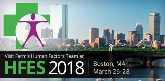 Farm's Human Factors Team to Exhibit and Present at HFES, March 26-28, Boston, MA
