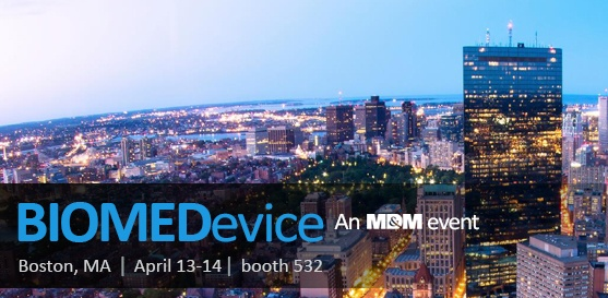 Farm to Speak and Exhibit at BIOMEDevice Boston, Booth 532, April 13–14, 2016